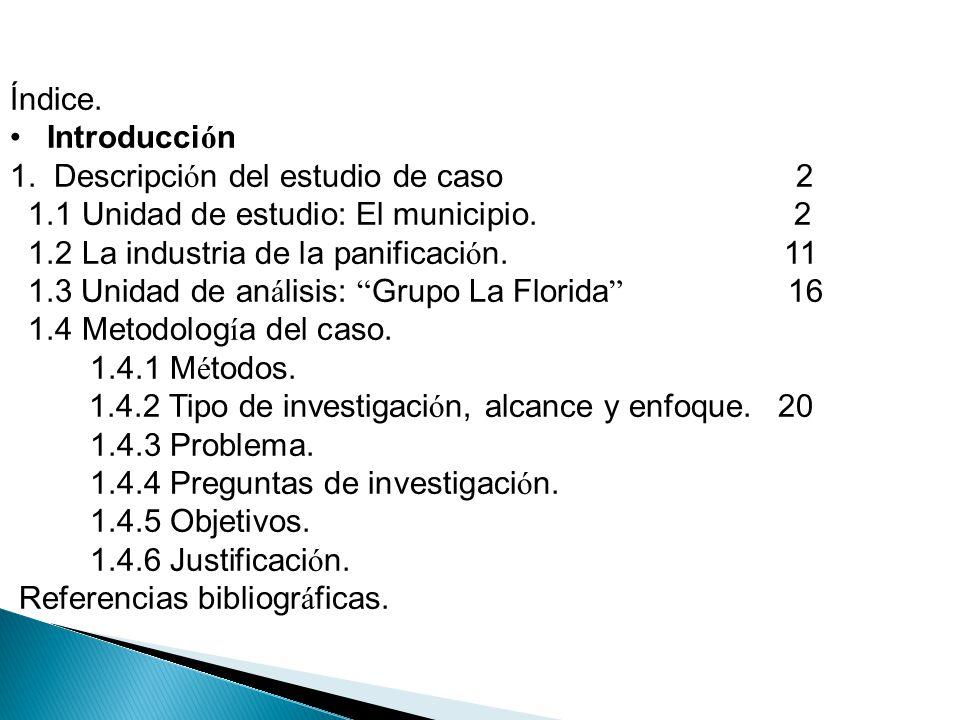 Índice. Introducción. 1. Descripción del estudio de caso 2.