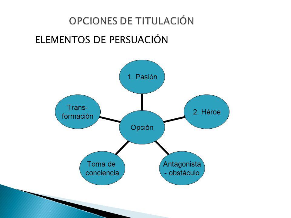 OPCIONES DE TITULACIÓN