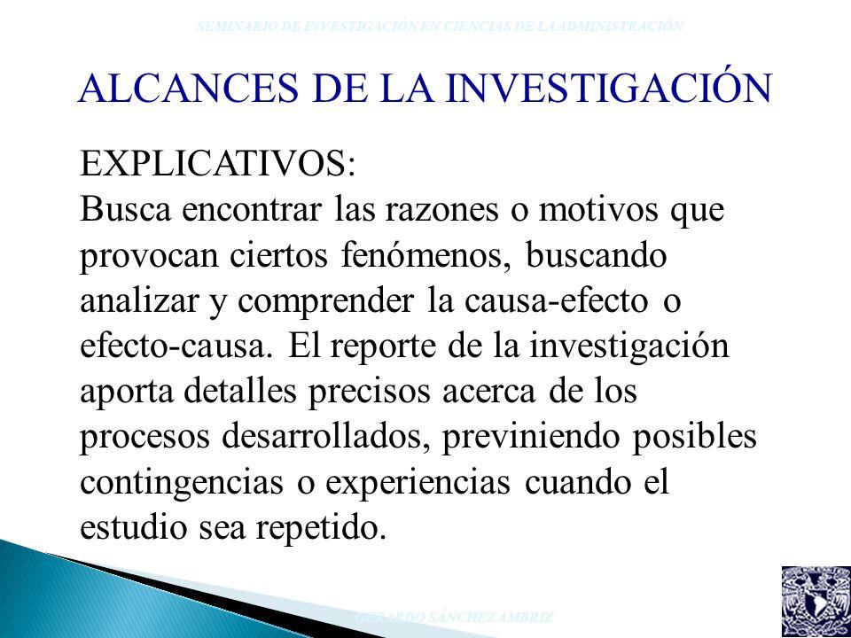 ALCANCES DE LA INVESTIGACIÓN
