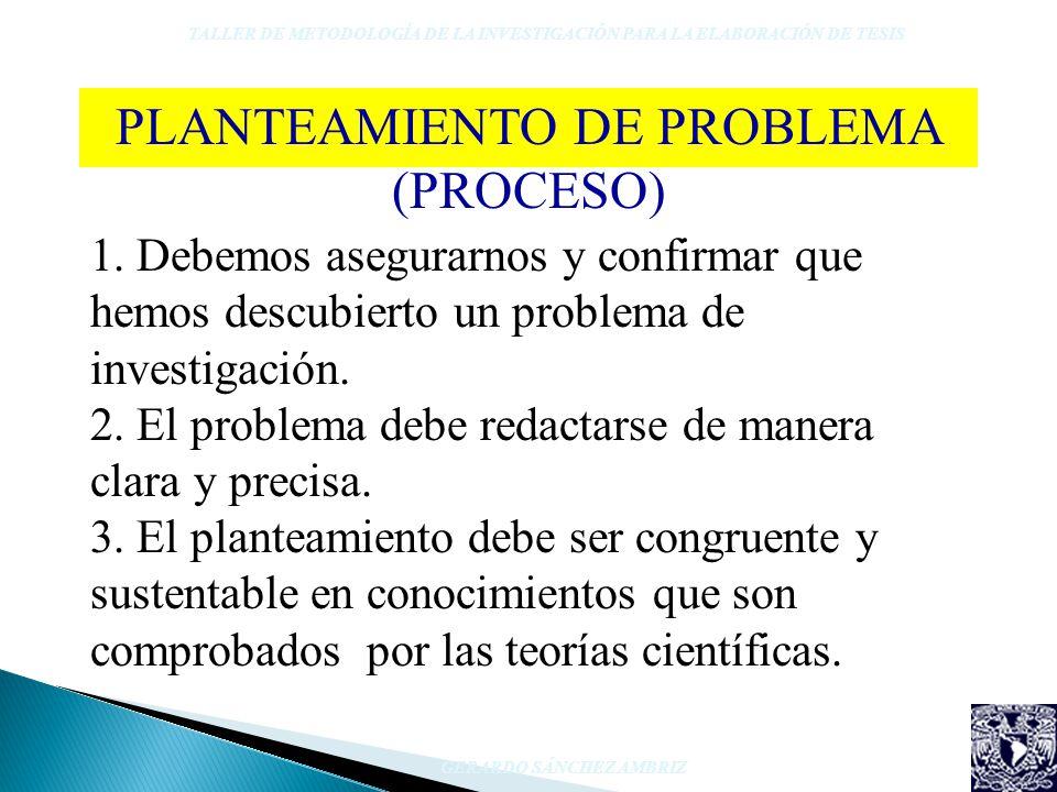 PLANTEAMIENTO DE PROBLEMA (PROCESO)