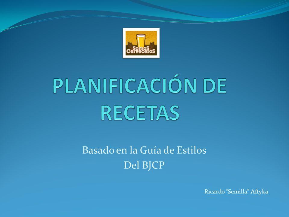 PLANIFICACIÓN DE RECETAS