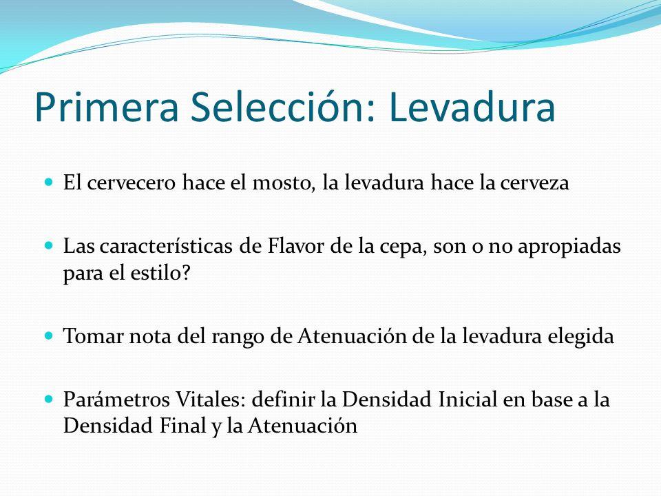 Primera Selección: Levadura