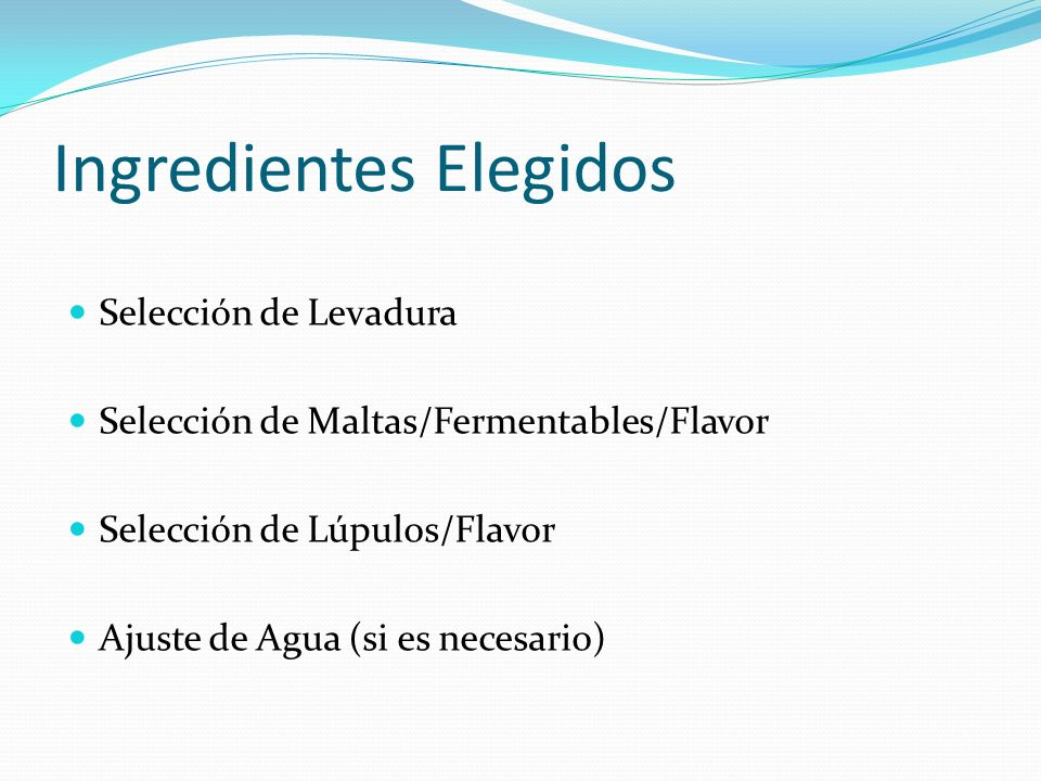 Ingredientes Elegidos
