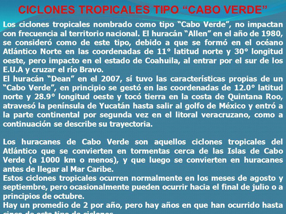 CICLONES TROPICALES TIPO CABO VERDE