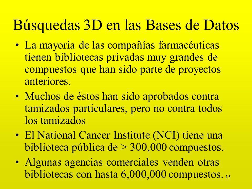 Búsquedas 3D en las Bases de Datos