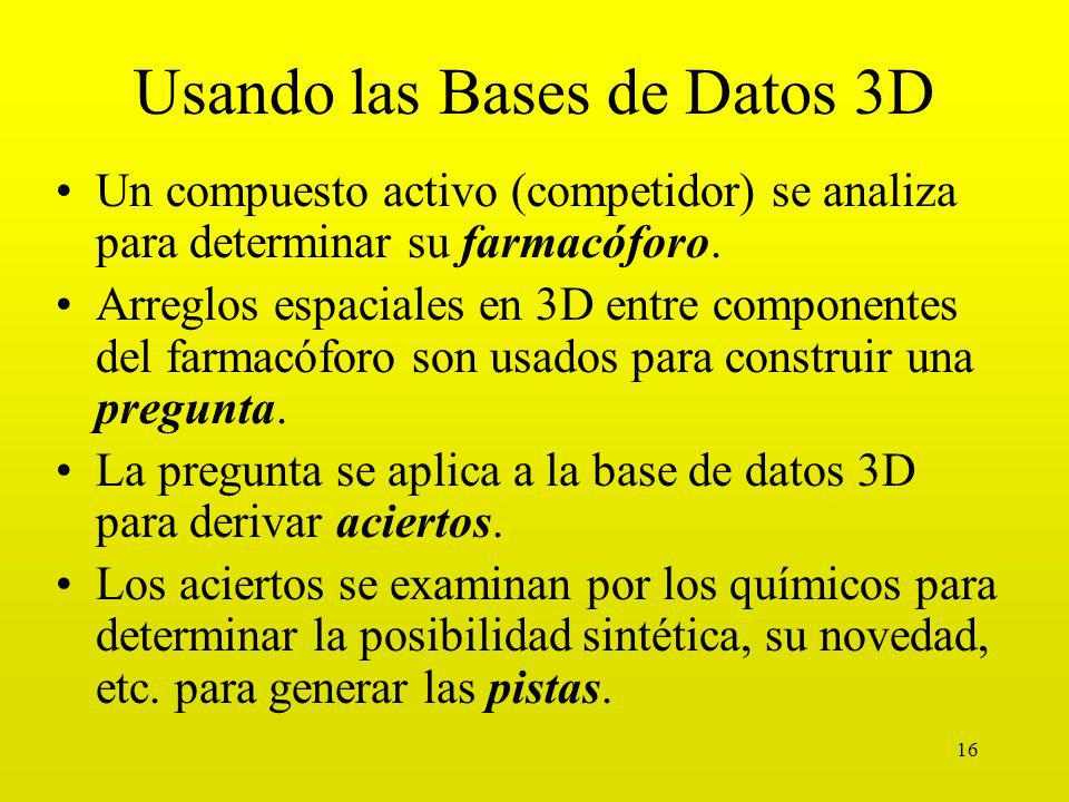 Usando las Bases de Datos 3D