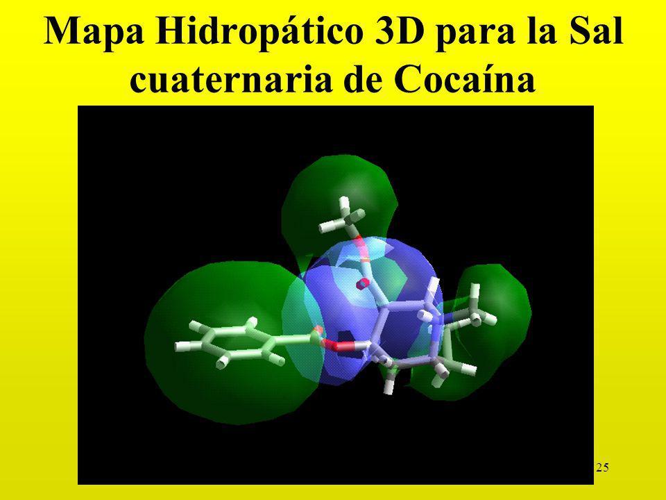 Mapa Hidropático 3D para la Sal cuaternaria de Cocaína