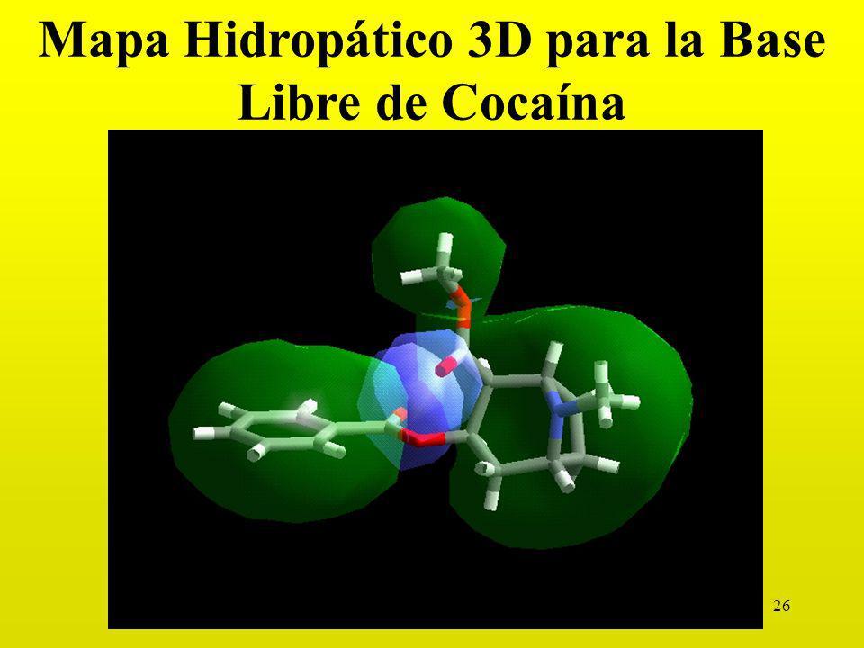 Mapa Hidropático 3D para la Base Libre de Cocaína