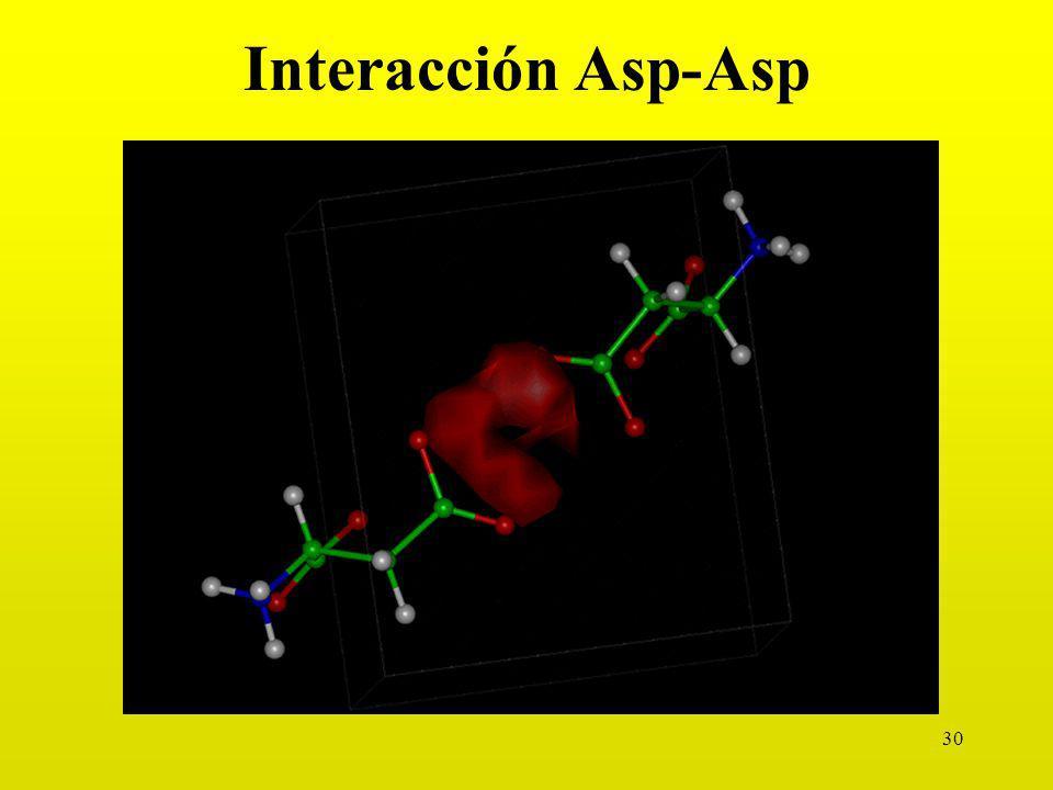 Interacción Asp-Asp