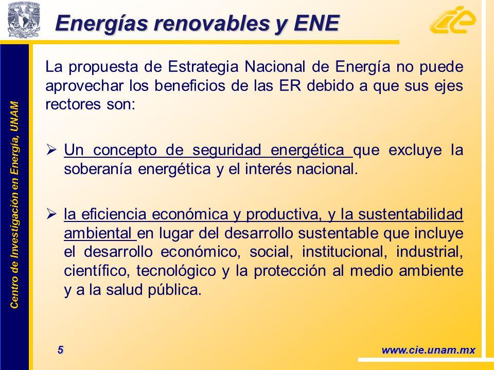 Energías renovables y ENE