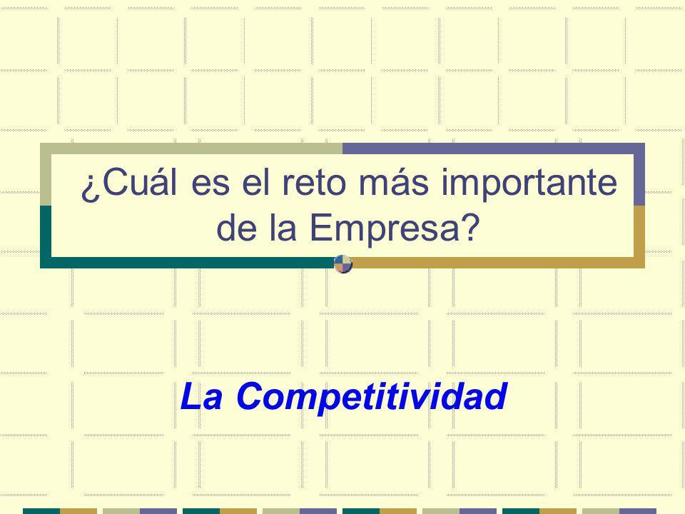 ¿Cuál es el reto más importante de la Empresa