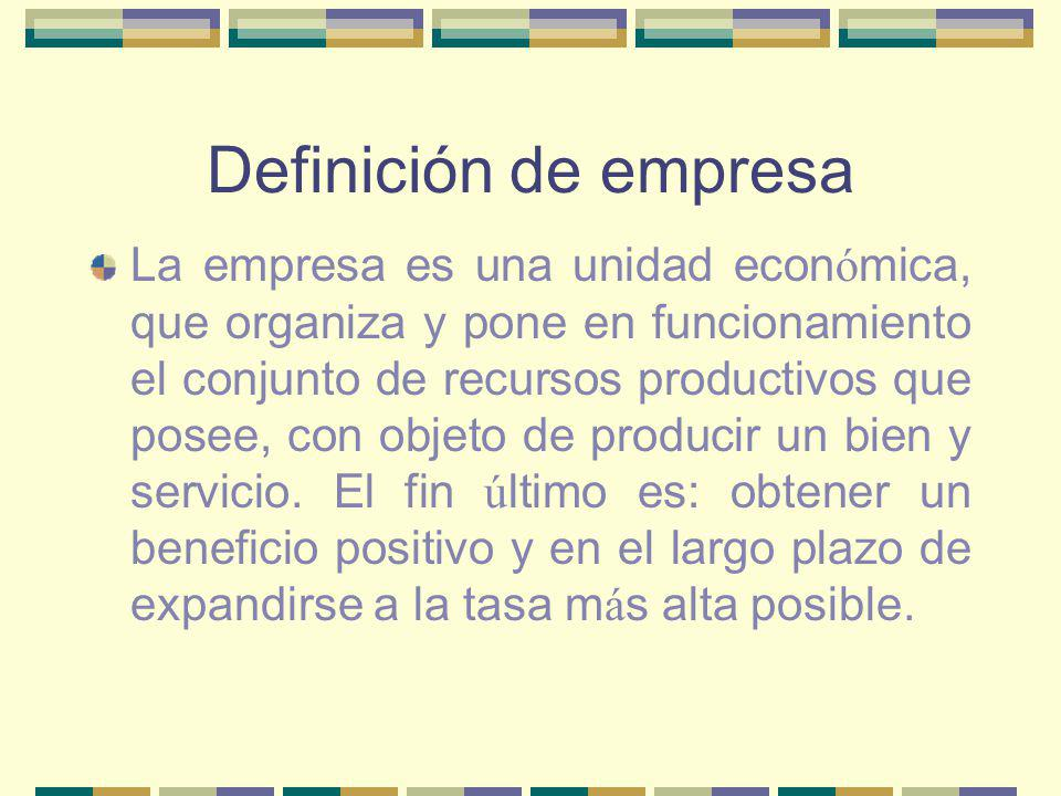 Definición de empresa