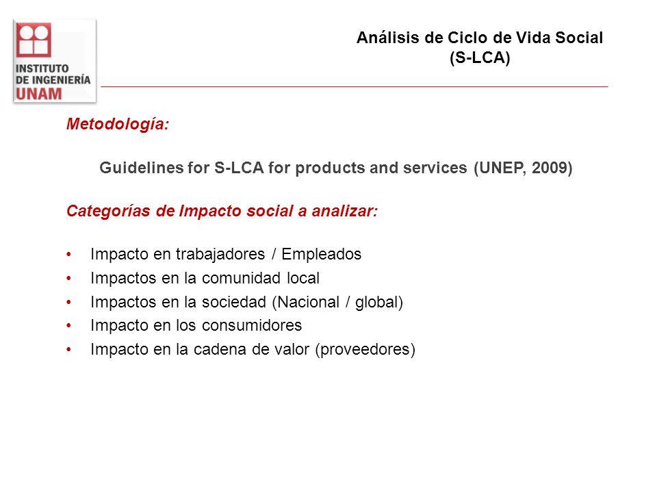 Análisis de Ciclo de Vida Social (S-LCA)