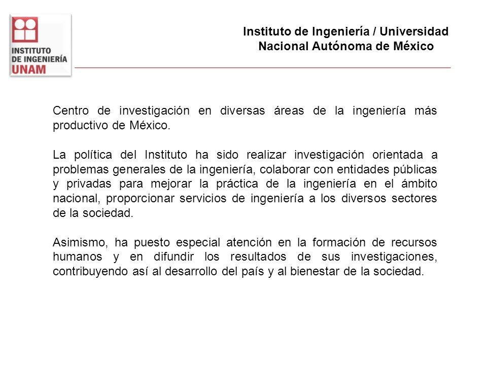 Instituto de Ingeniería / Universidad Nacional Autónoma de México