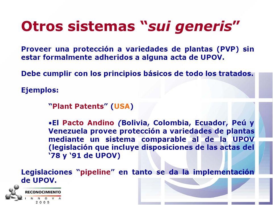 Otros sistemas sui generis