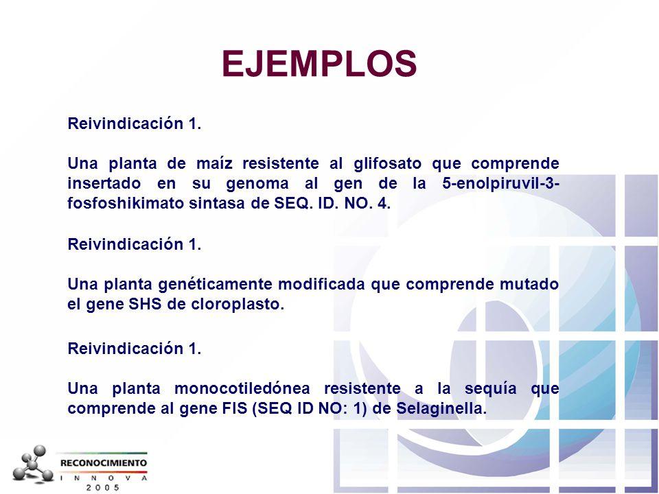 EJEMPLOS Reivindicación 1.