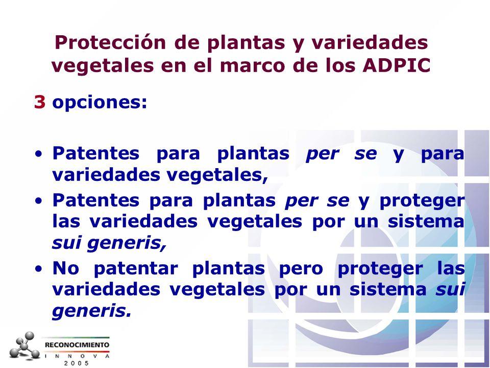 Protección de plantas y variedades vegetales en el marco de los ADPIC