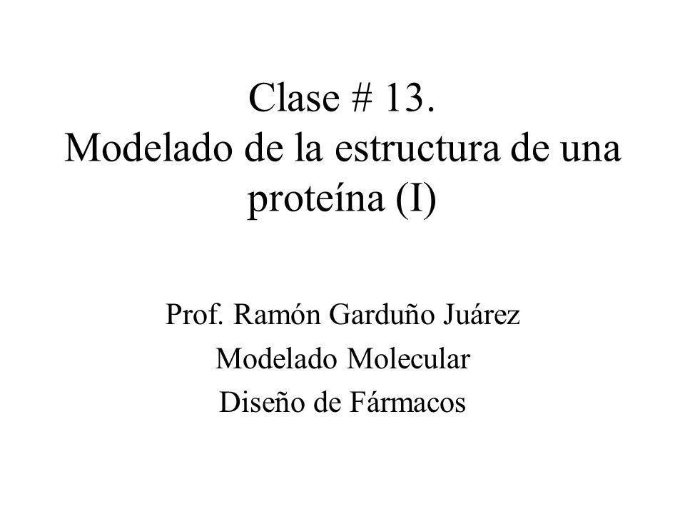 Clase # 13. Modelado de la estructura de una proteína (I)