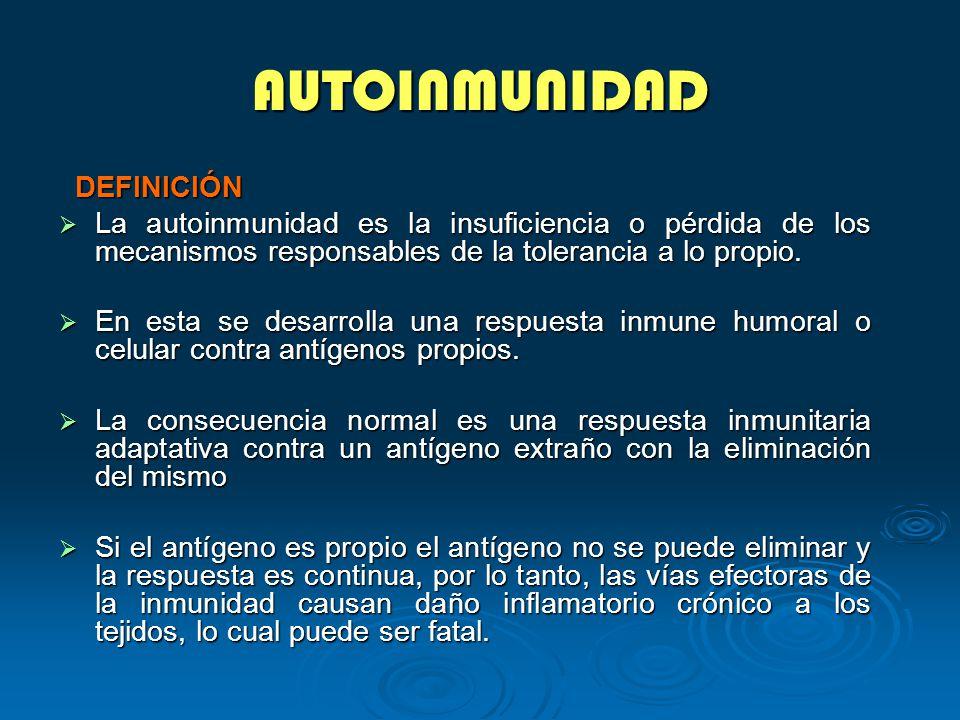 AUTOINMUNIDAD DEFINICIÓN