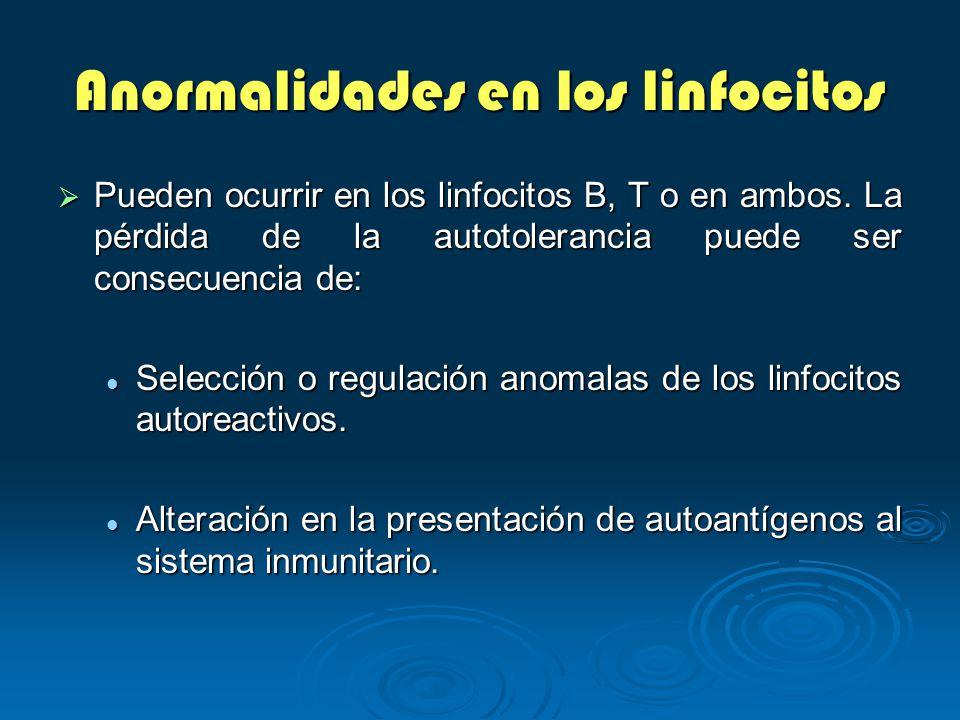 Anormalidades en los linfocitos