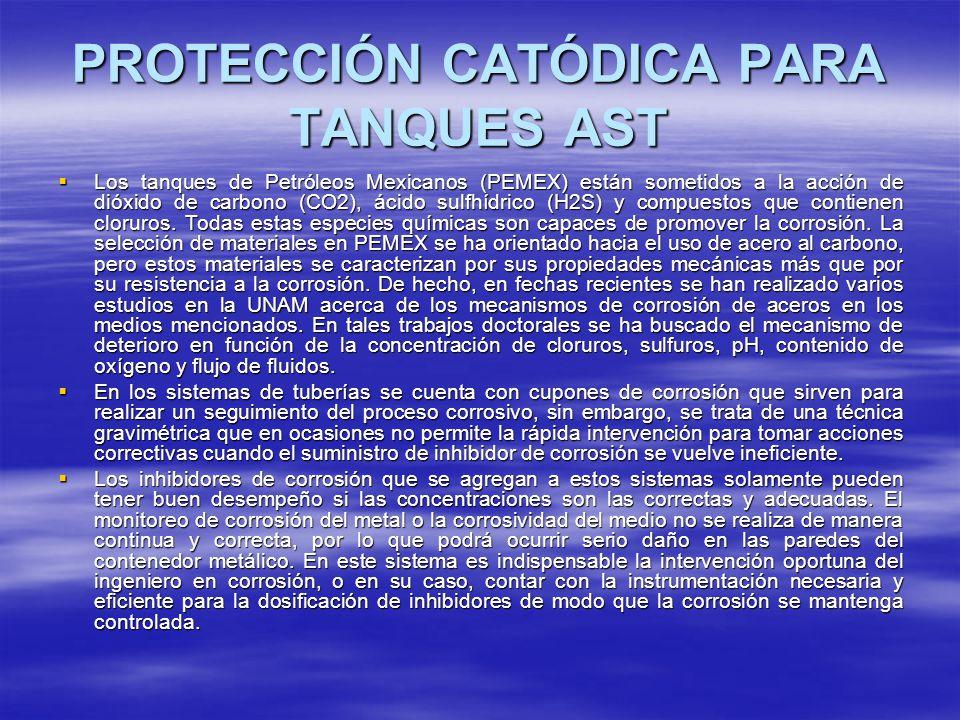 PROTECCIÓN CATÓDICA PARA TANQUES AST