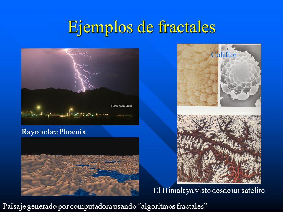 Ejemplos de fractales Coliflor Rayo sobre Phoenix