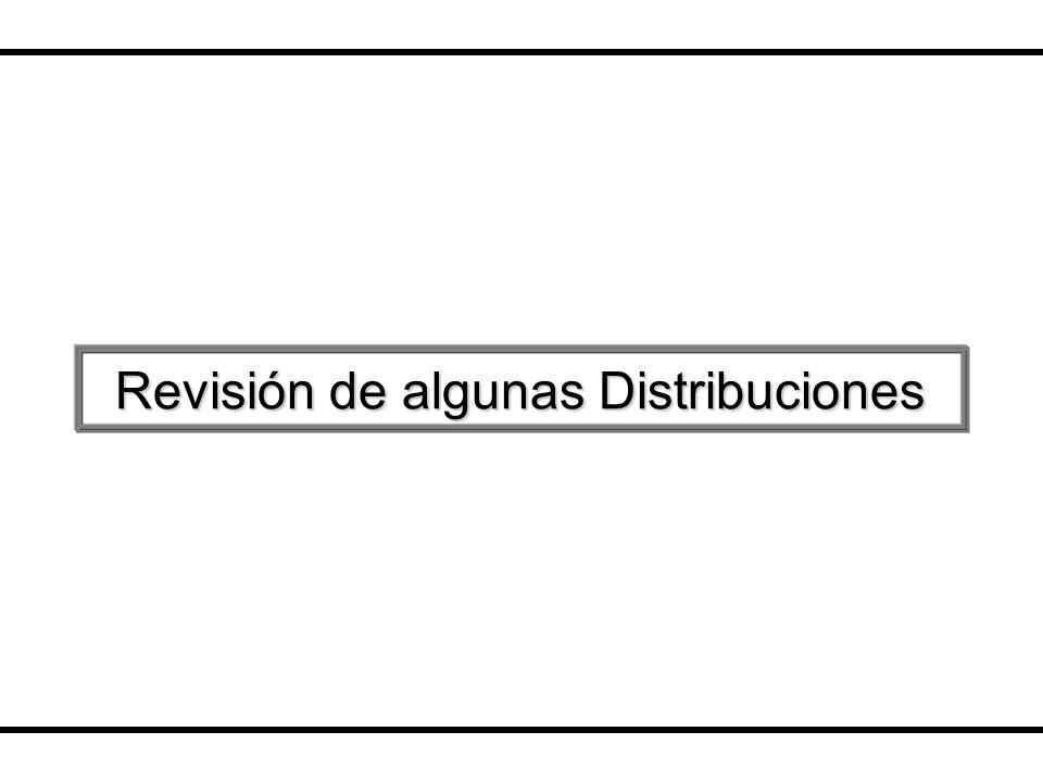 Revisión de algunas Distribuciones