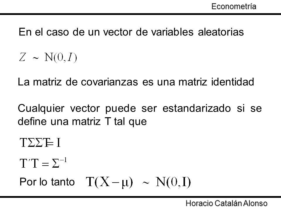 En el caso de un vector de variables aleatorias