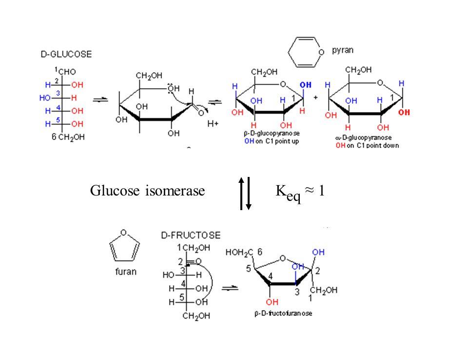 ~ Glucose isomerase Keq ~ 1