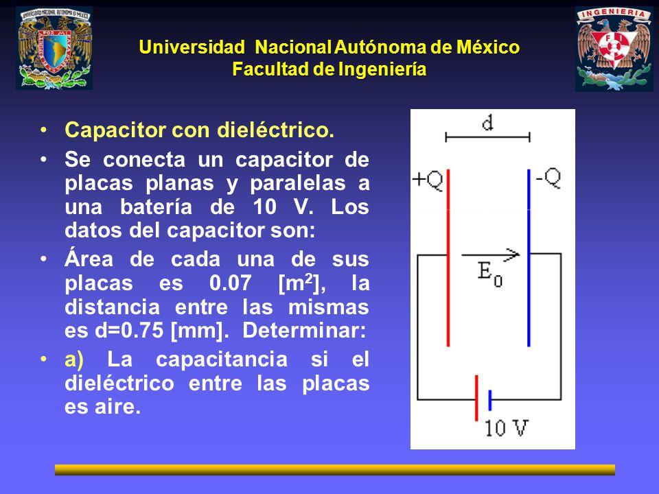 Capacitor con dieléctrico.