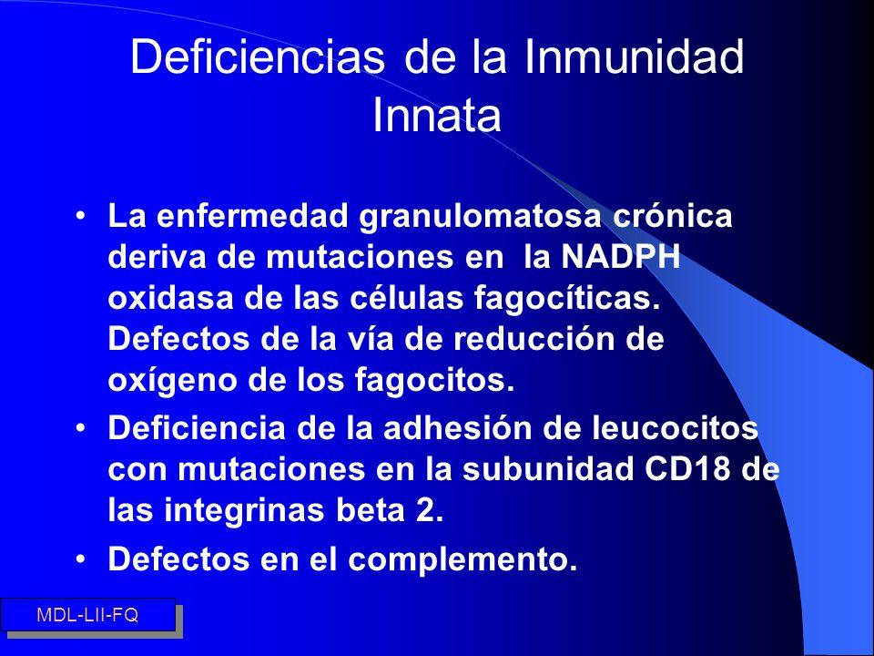 Deficiencias de la Inmunidad Innata