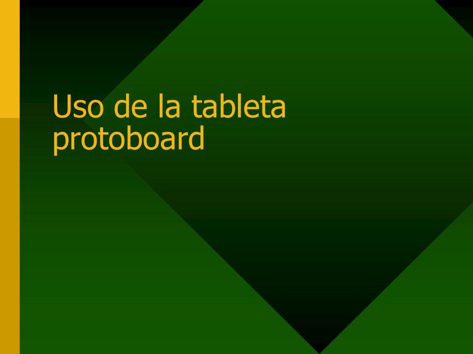 Uso de la tableta protoboard