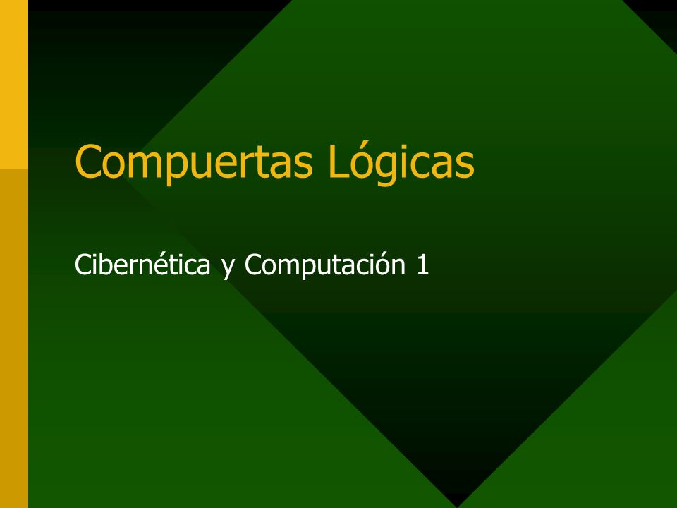 Cibernética y Computación 1