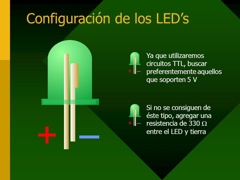 Configuración de los LED's