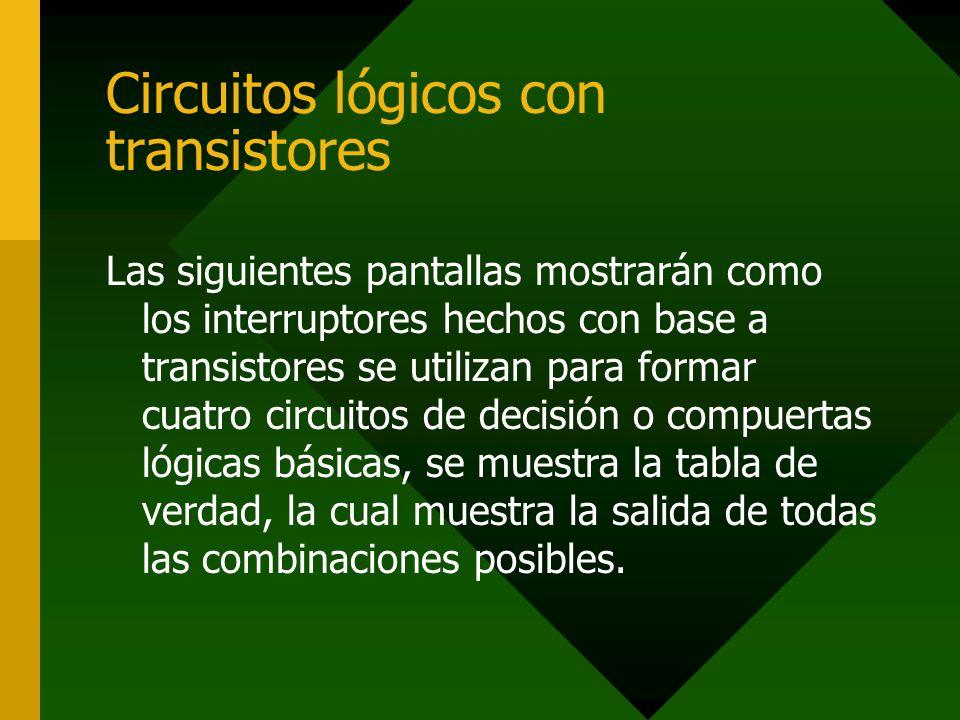 Circuitos lógicos con transistores