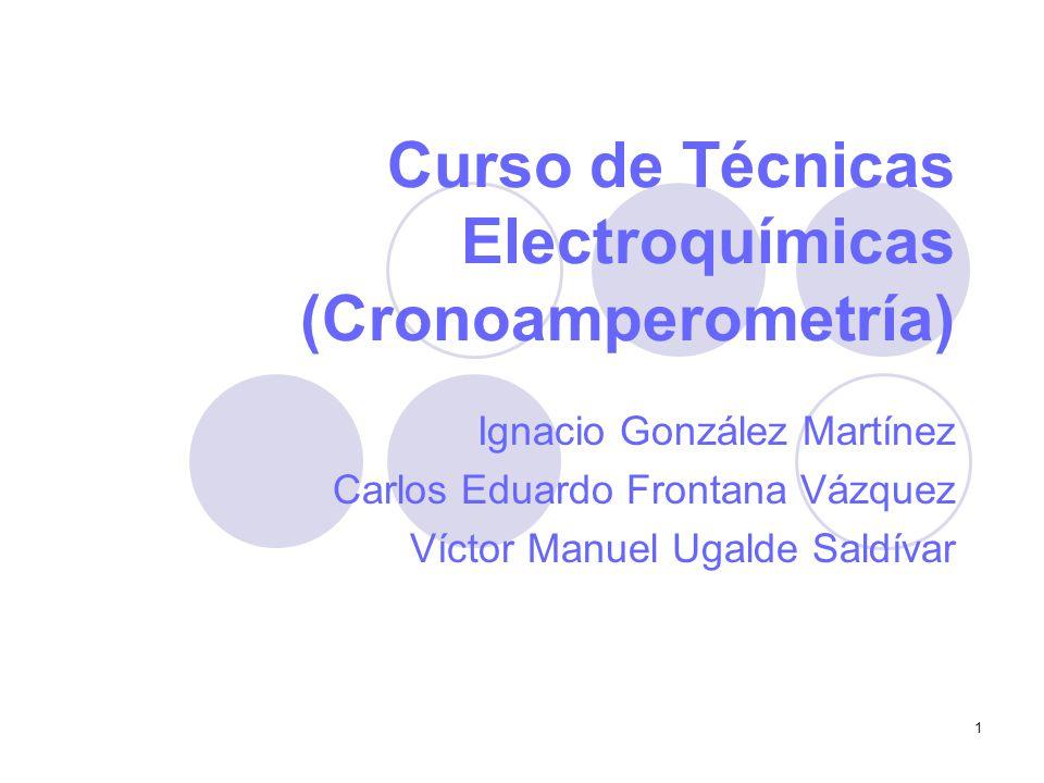 Curso de Técnicas Electroquímicas (Cronoamperometría)