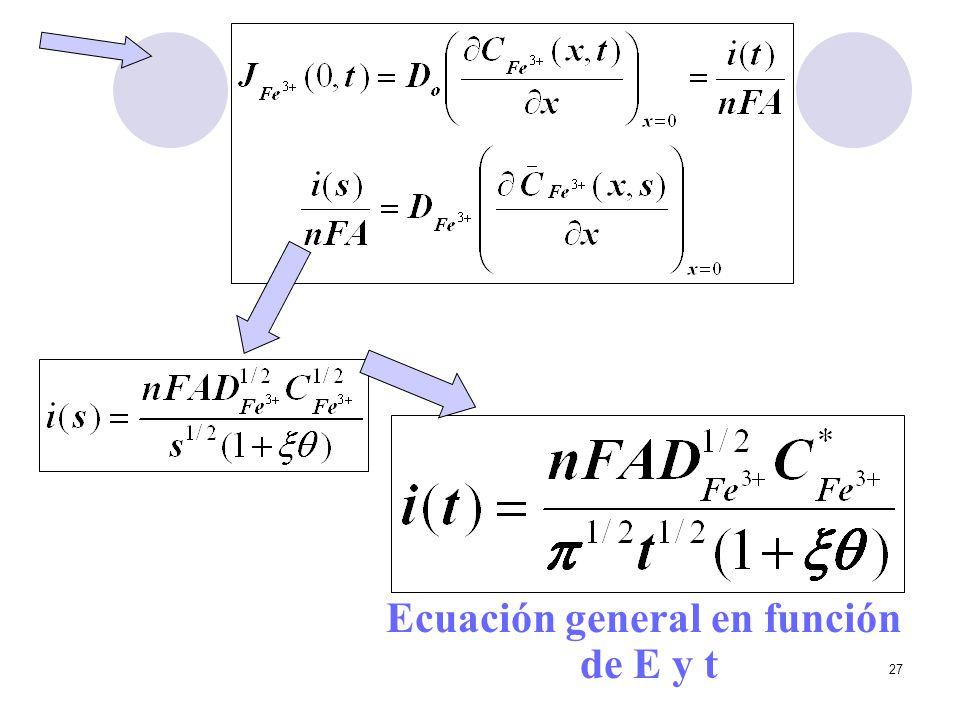 Ecuación general en función