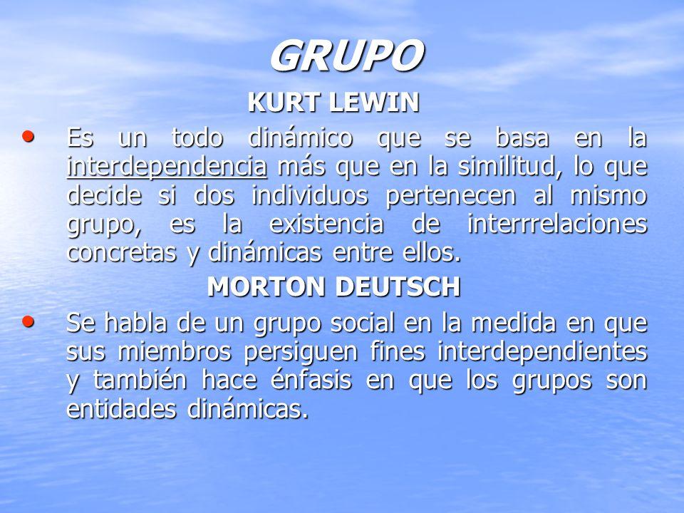 GRUPO KURT LEWIN.