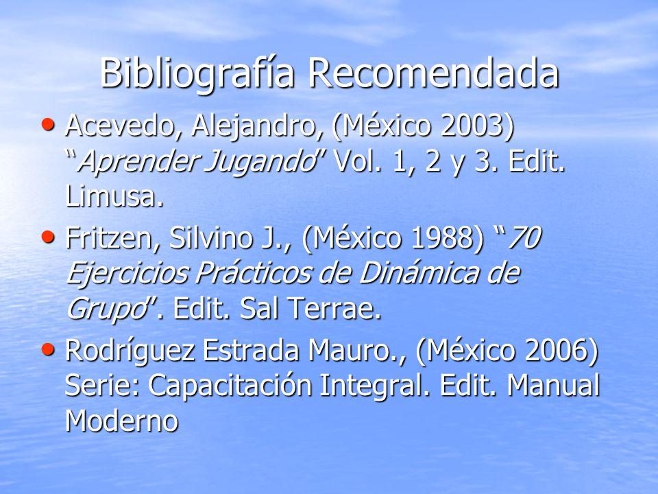 Bibliografía Recomendada