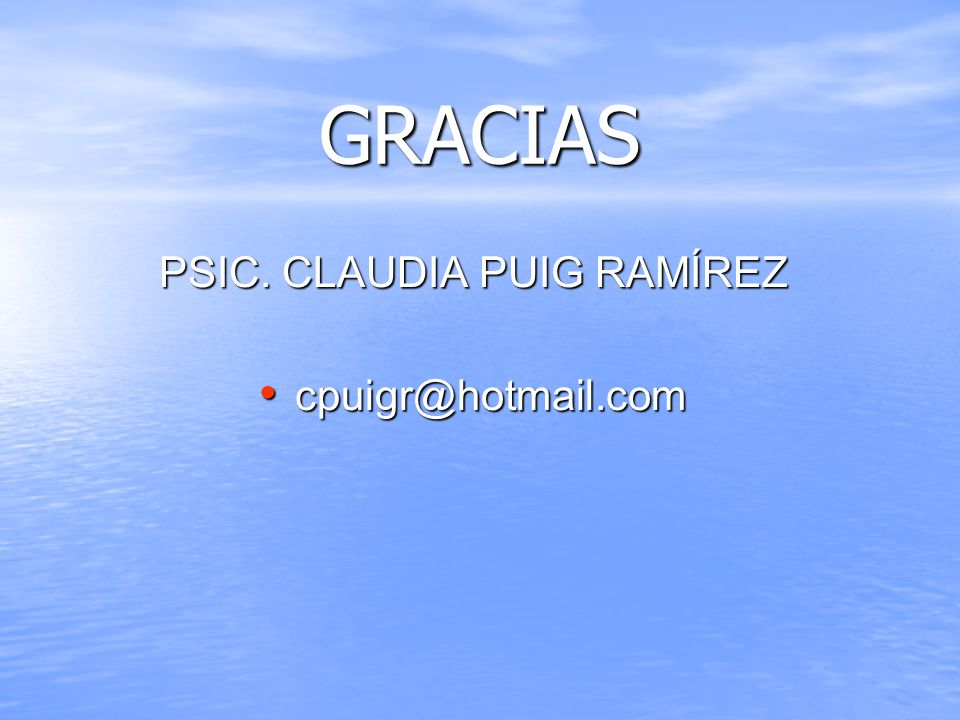 PSIC. CLAUDIA PUIG RAMÍREZ