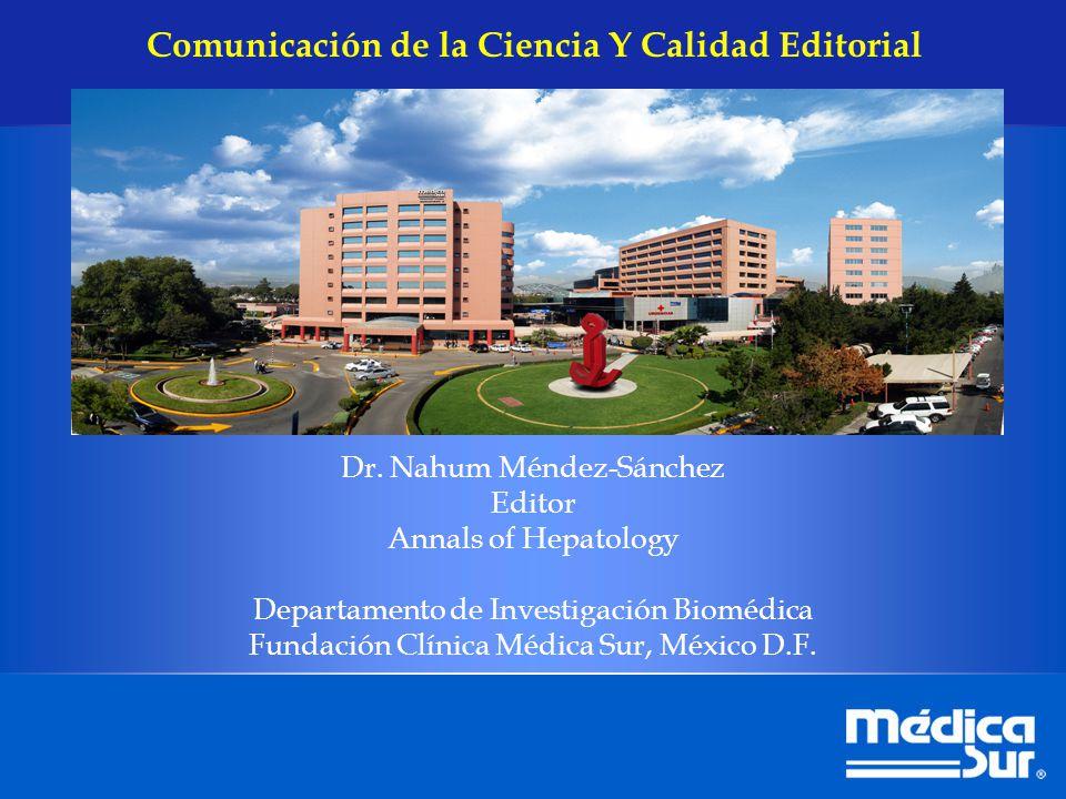 Comunicación de la Ciencia Y Calidad Editorial