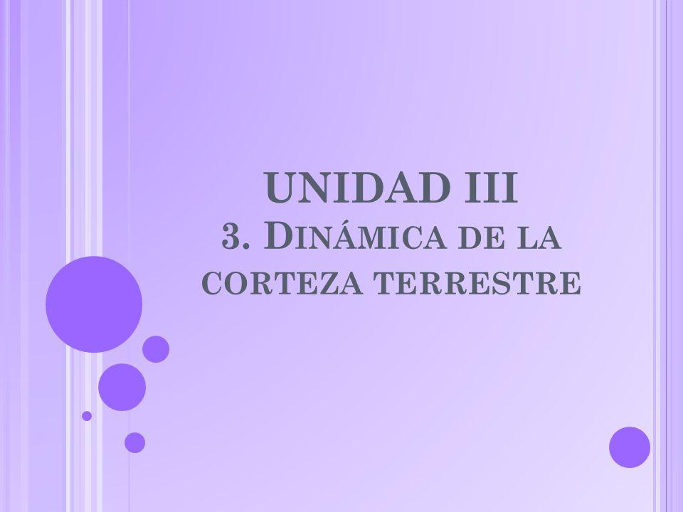 UNIDAD III 3. Dinámica de la corteza terrestre