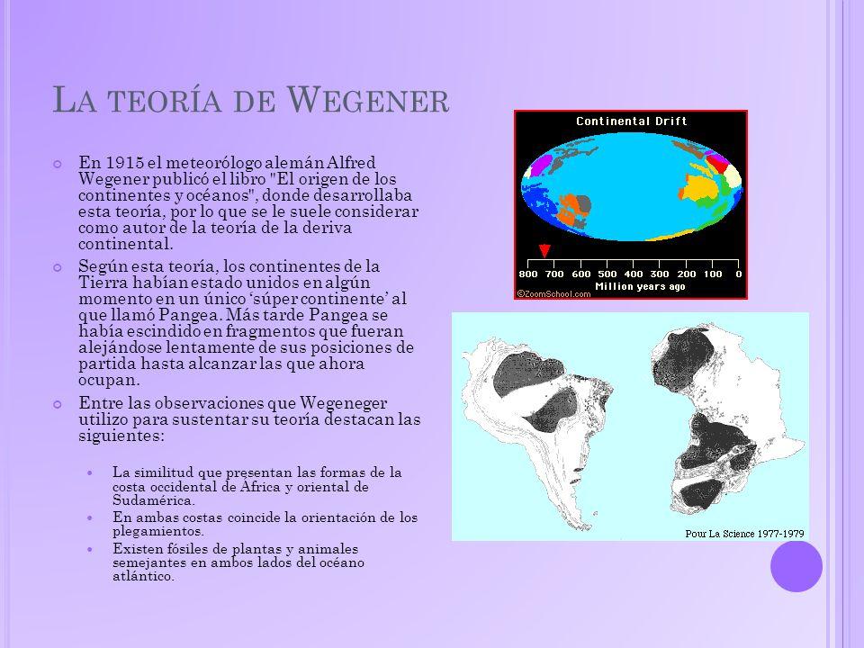 La teoría de Wegener