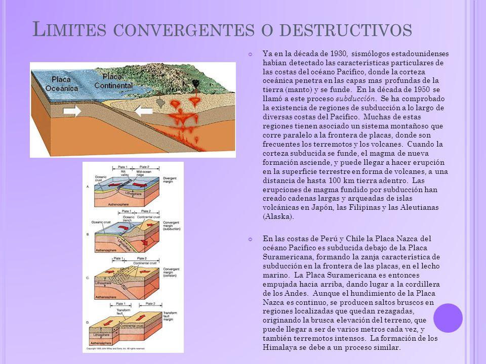 Limites convergentes o destructivos