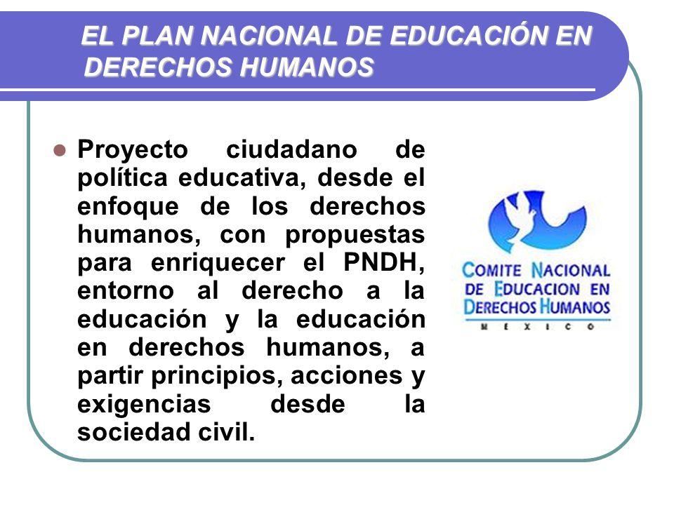EL PLAN NACIONAL DE EDUCACIÓN EN DERECHOS HUMANOS