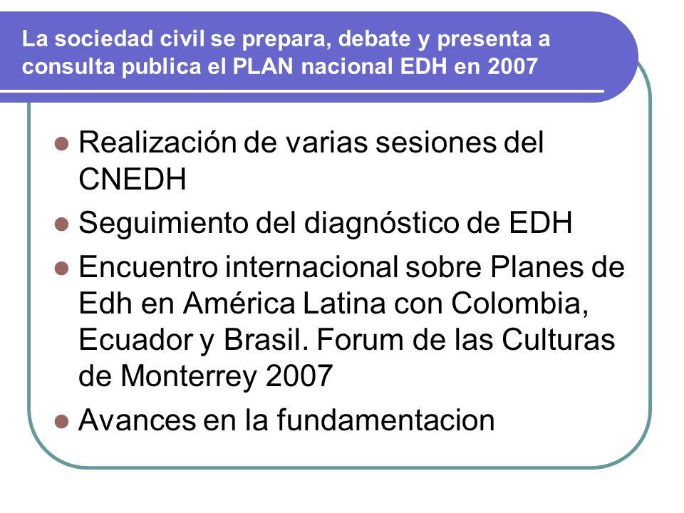 Realización de varias sesiones del CNEDH