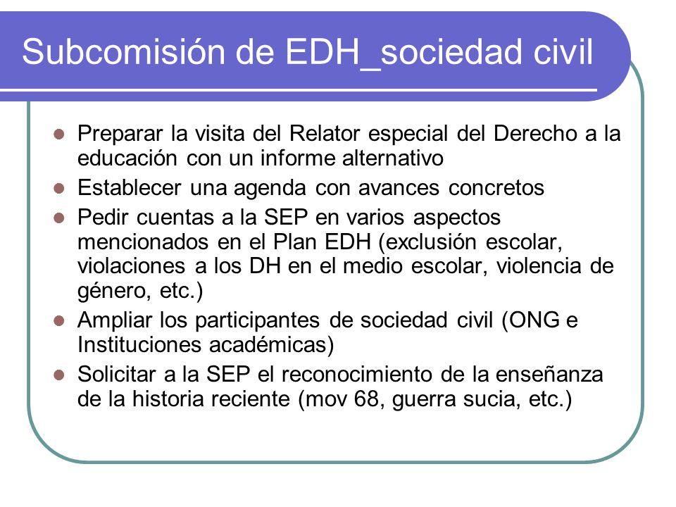 Subcomisión de EDH_sociedad civil