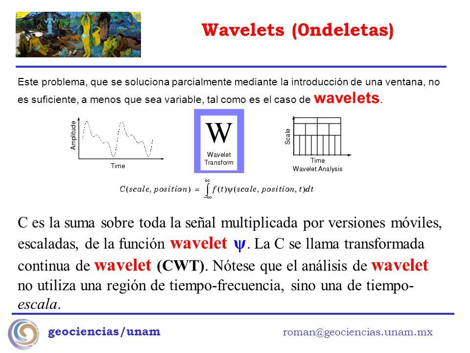 Este problema, que se soluciona parcialmente mediante la introducción de una ventana, no es suficiente, a menos que sea variable, tal como es el caso de wavelets.