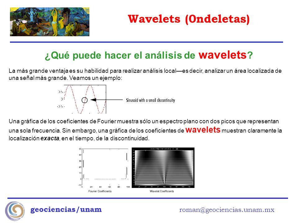 ¿Qué puede hacer el análisis de wavelets