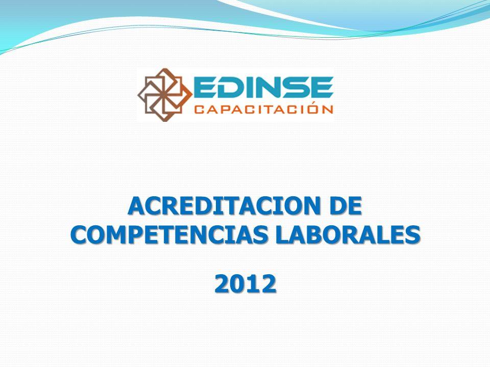 ACREDITACION DE COMPETENCIAS LABORALES